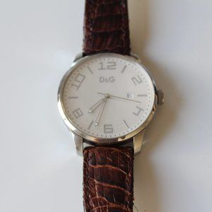 D&G Mens Watch Chronograph Leather Band